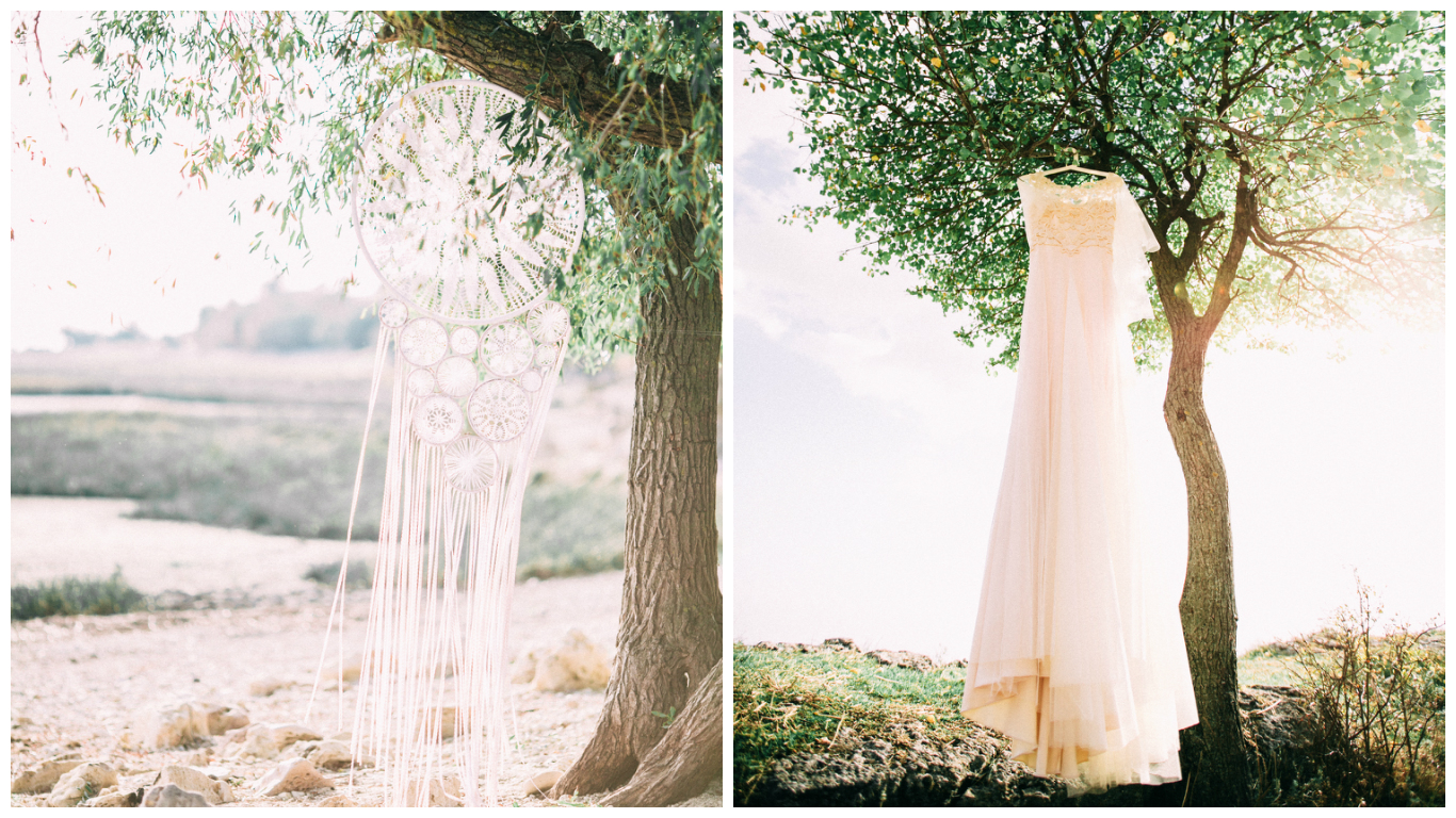 Bridal dress and Dreamcatcher