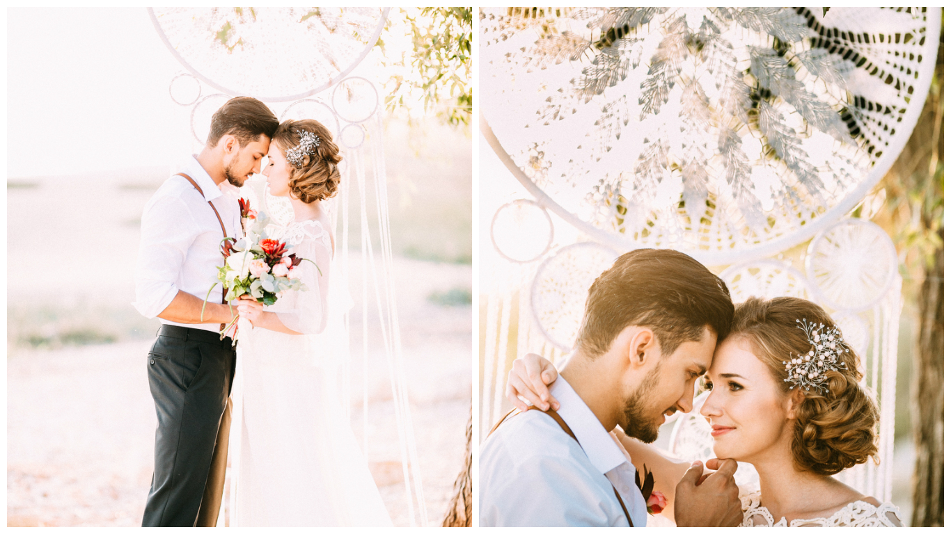 Bride and Groom Romantic Moments