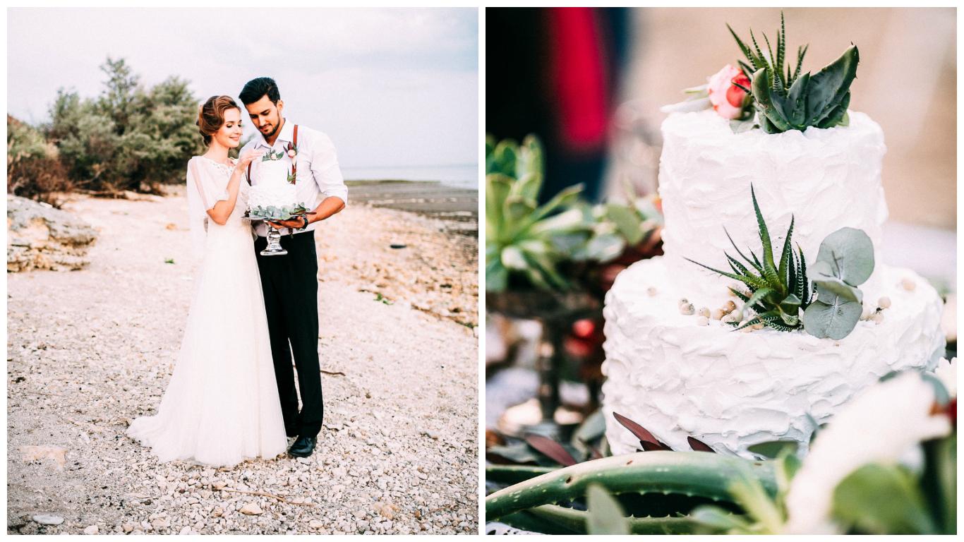Dreamy Beach Wedding Cake