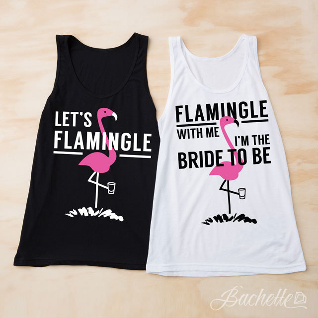 Flamingo-themed Bachelorette Tees