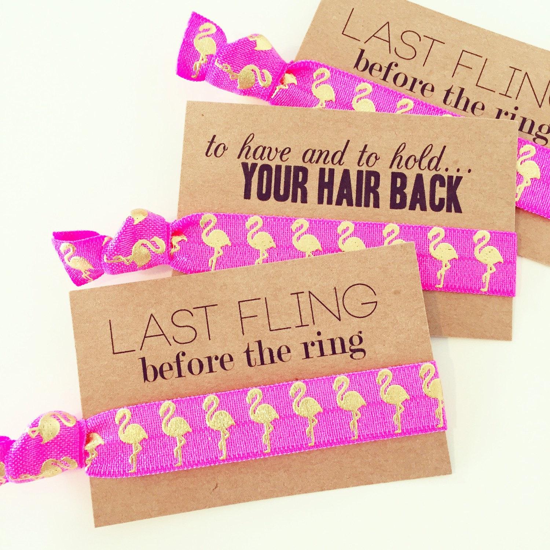 Flamingo-themed Bachelorette Hair Ties