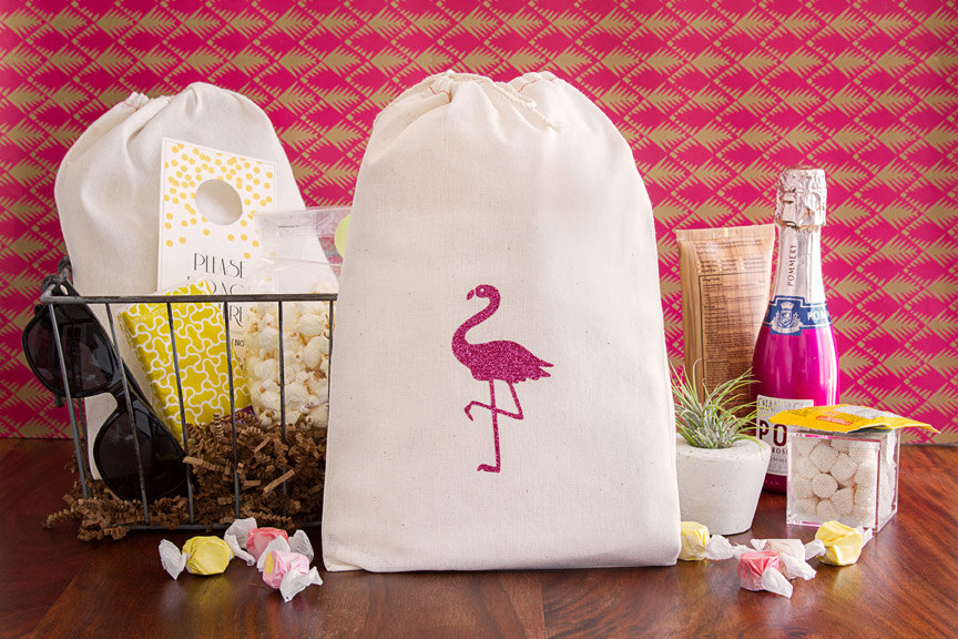 Flamingo Themed Bachelorette Party Favor Bag