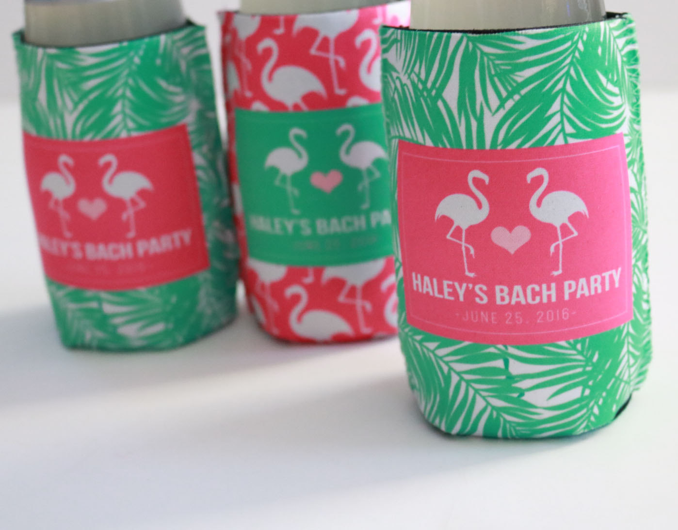 Flamingo-themed Bachelorette Party Can Insulators