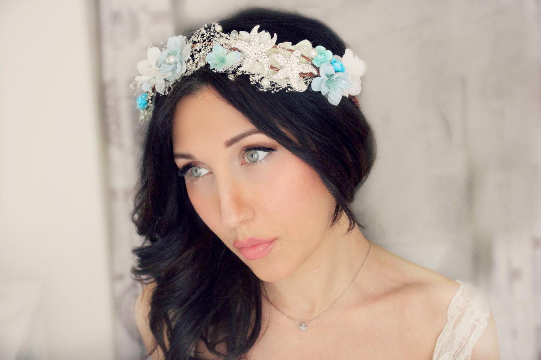 Beach wedding crown