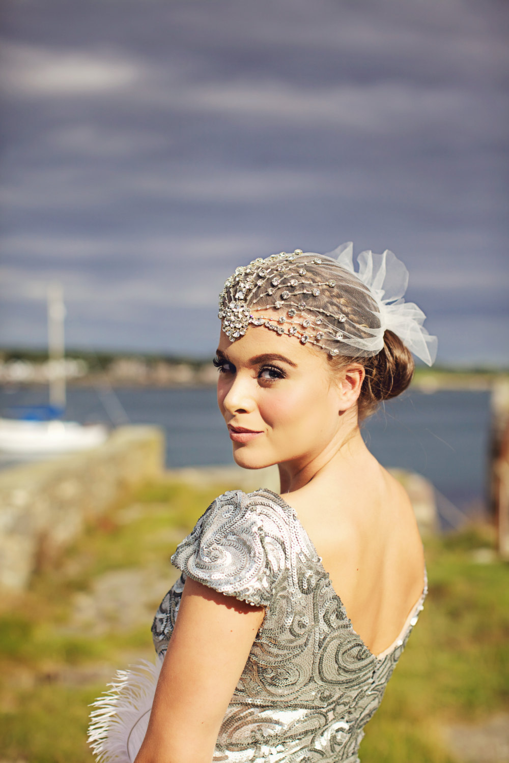 Statement headpiece with crystals