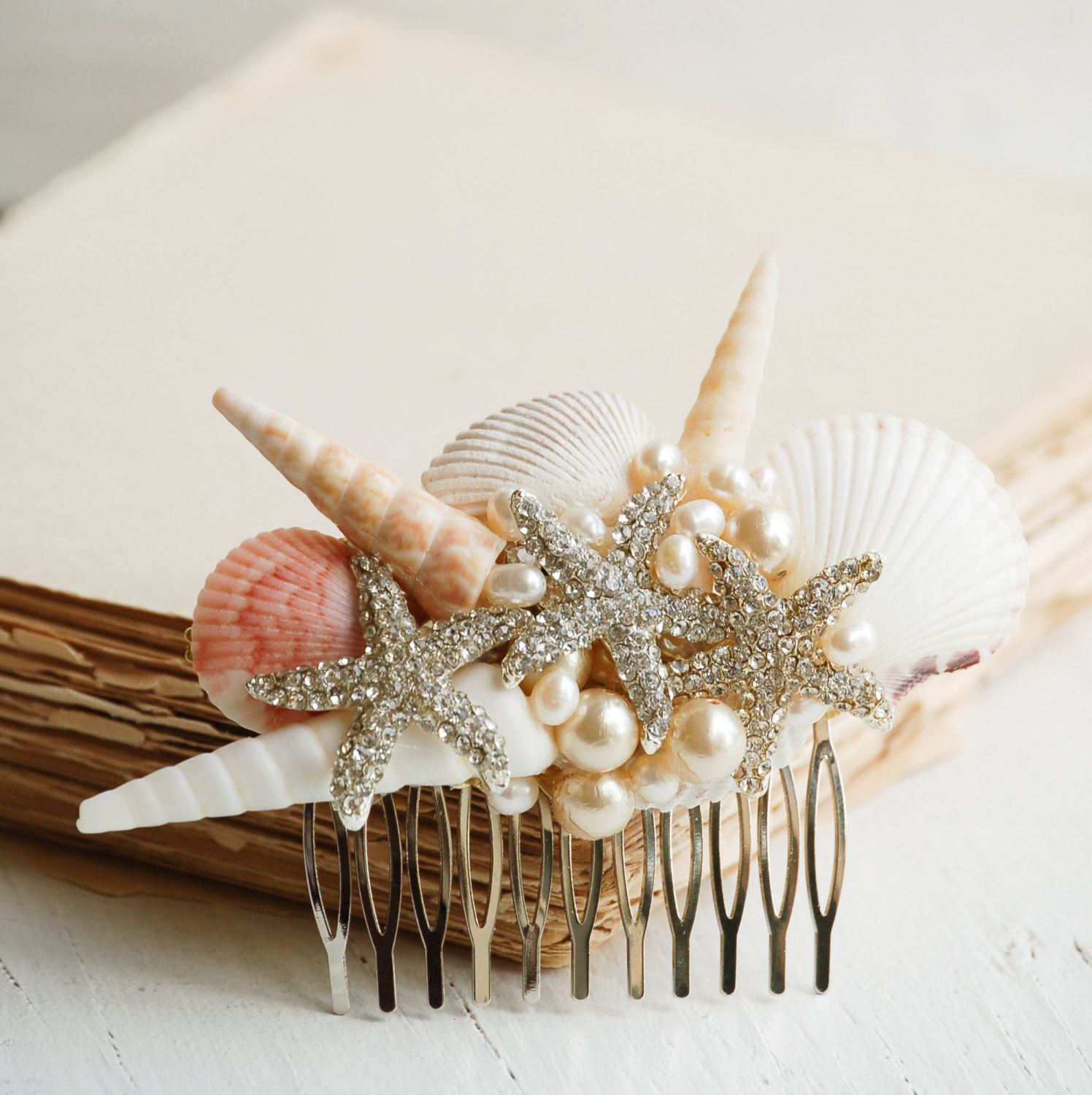 Beach bridal hair comb