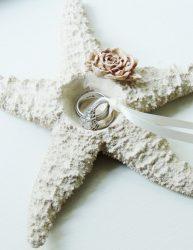 Beach Wedding Ring Holder Pillow