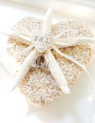 Starfish Shell Ring Pillow