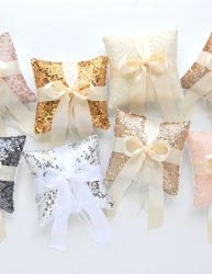 Sequin Ring Pillow