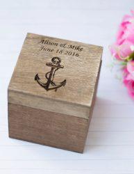 Nautical Wedding Ring Box