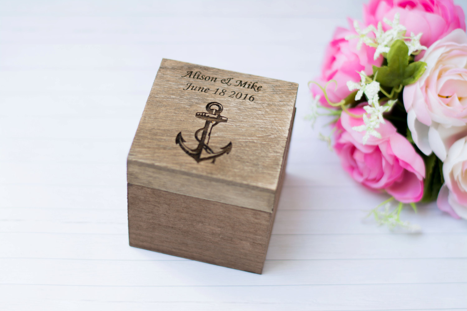 Nautical Wedding Ring Box