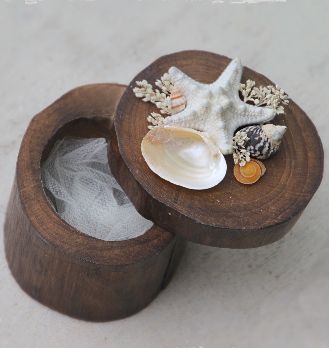 Wood Wedding Ring Box