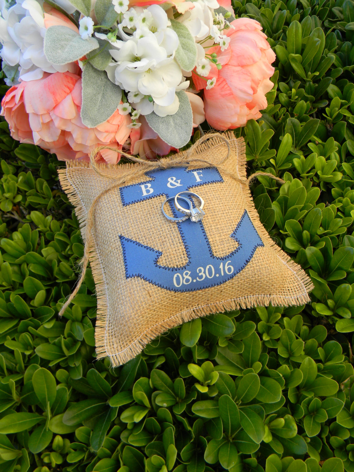 Anchor Ring Bearer Pillow
