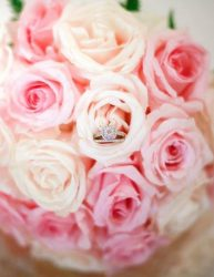 Wedding Rings and Bridal Bouquet