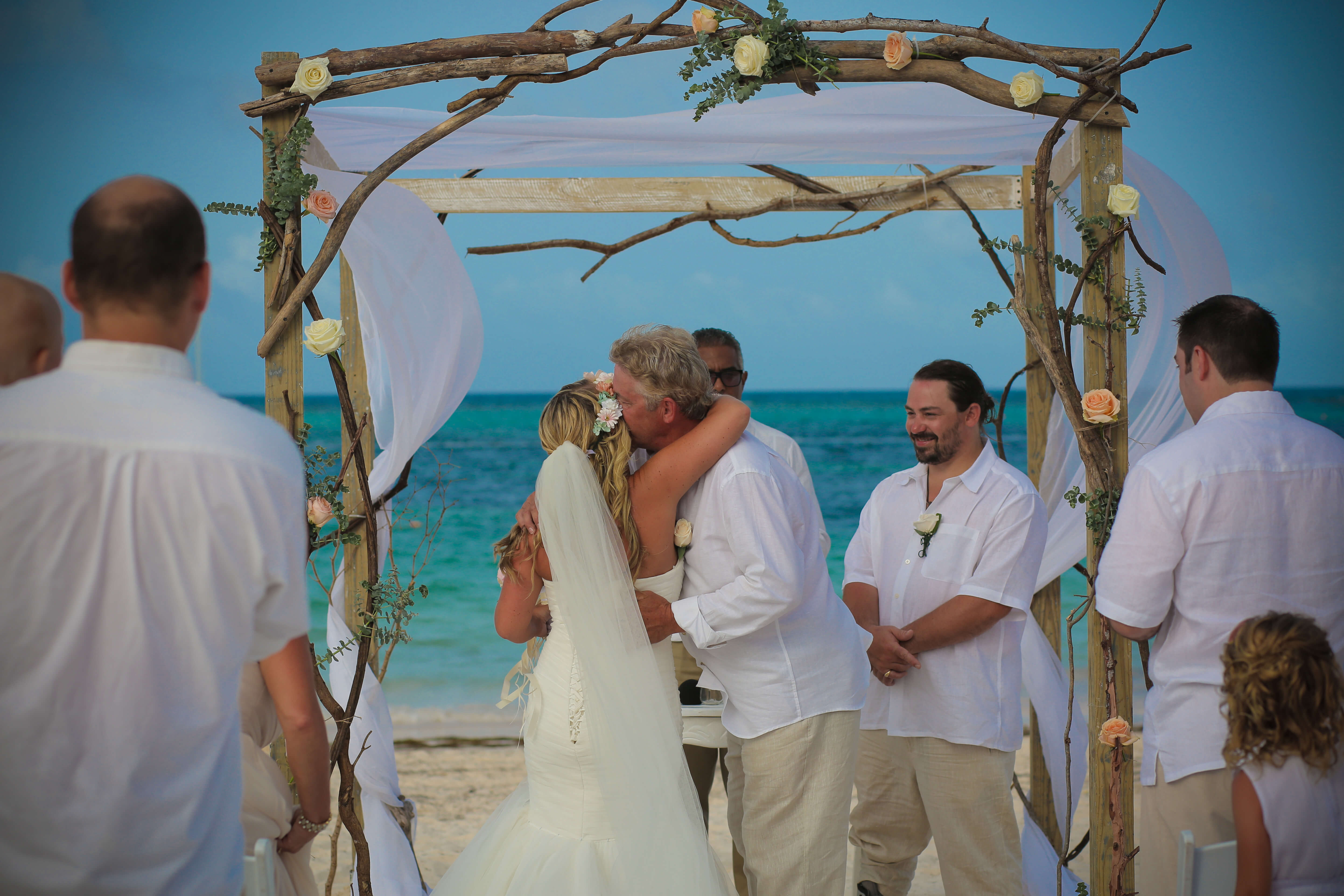 Bride Hugs her Father