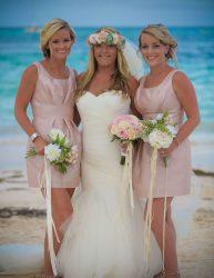 Bride and Bridesmaids Posing