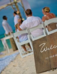 Beach Wedding Welcome Sign