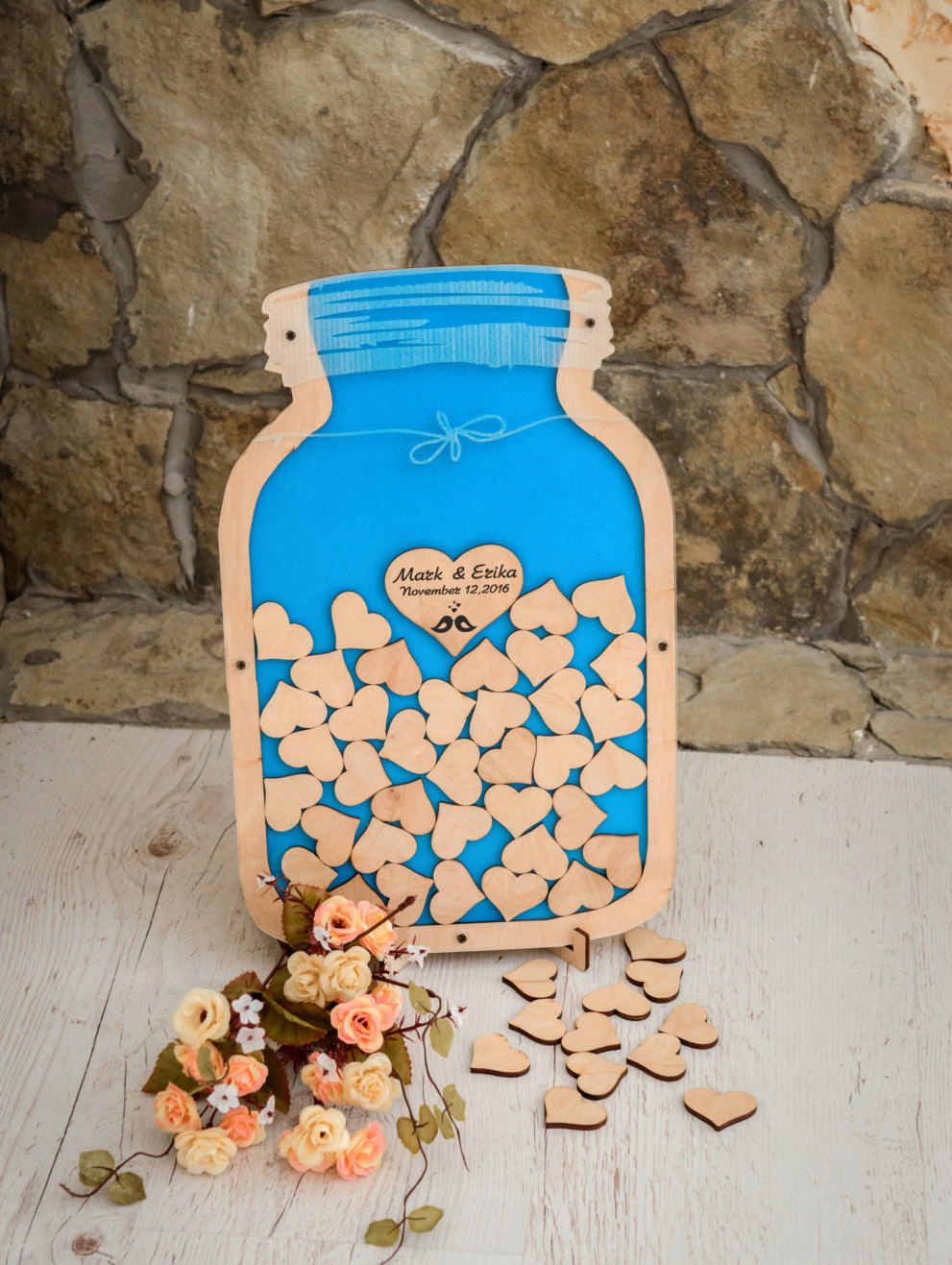 Wedding wishing well jar