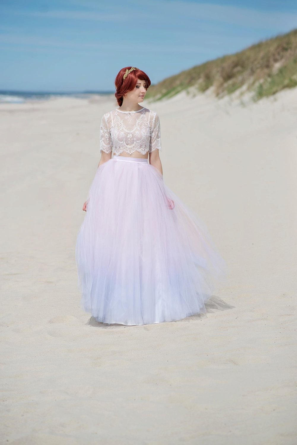 Ombre Two-Piece Wedding Dresses