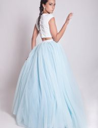 Light blue bridal dress