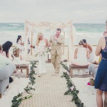 Modern Tropical Beach Wedding in Mexico