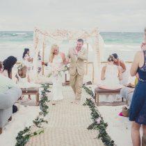 Modern Tropical Beach Wedding in Mexico
