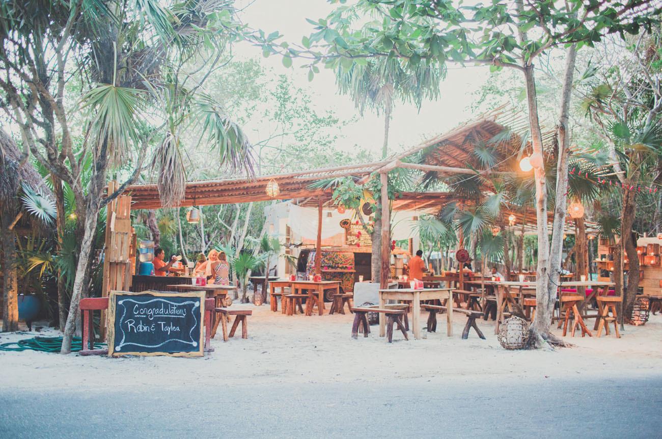 Beach bar wedding venue