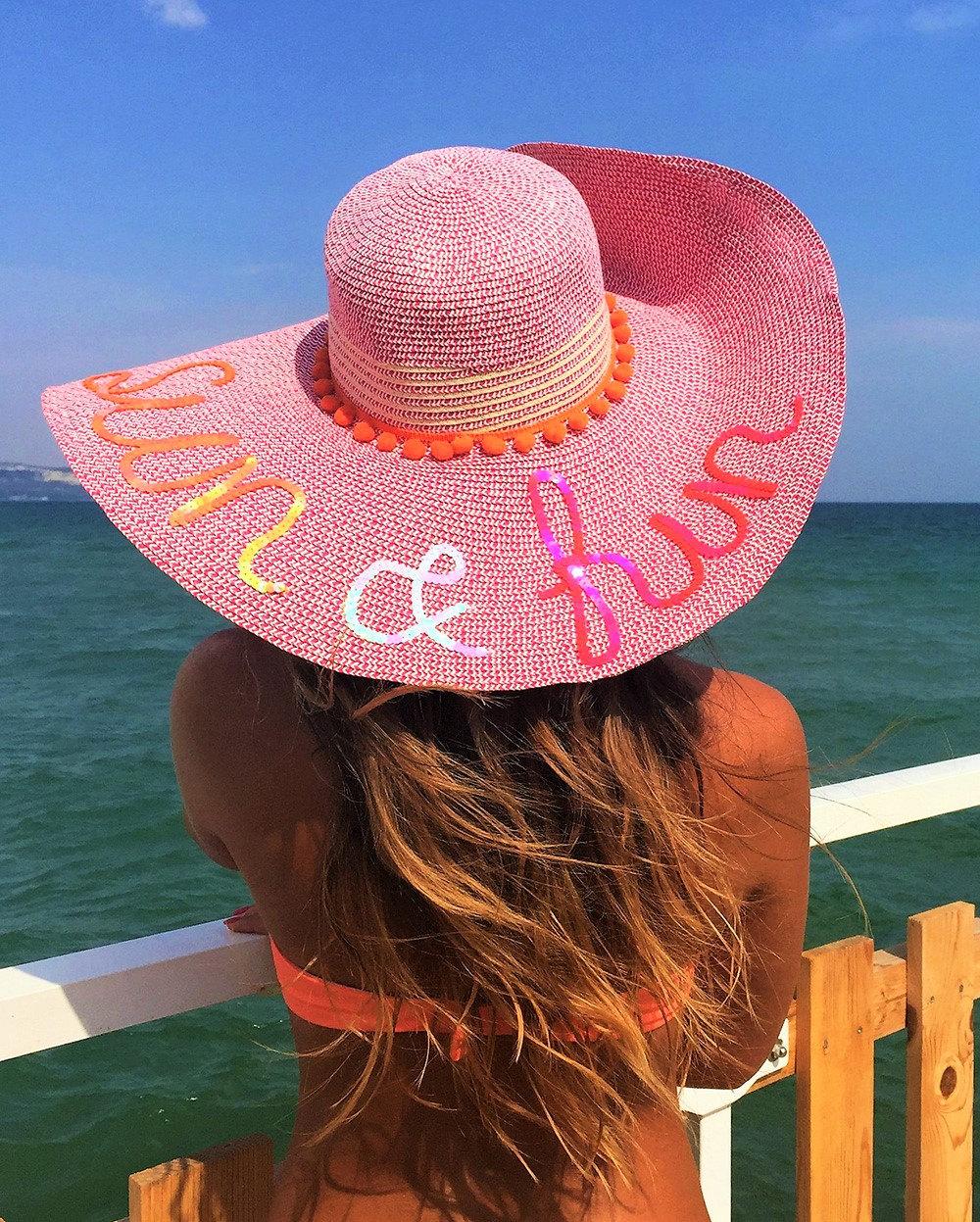 Sequins summer hat