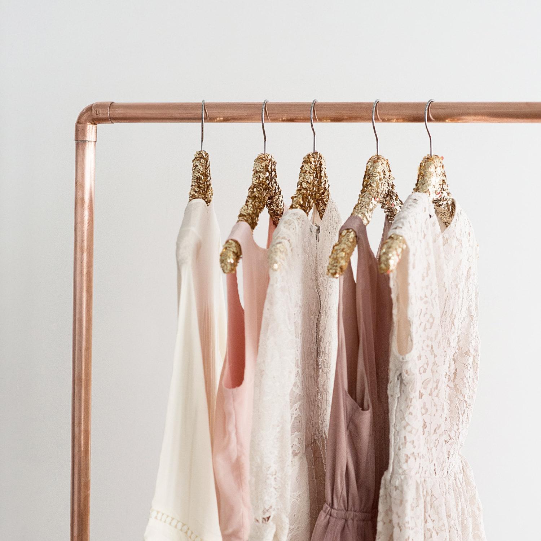 Gold sequins hangers