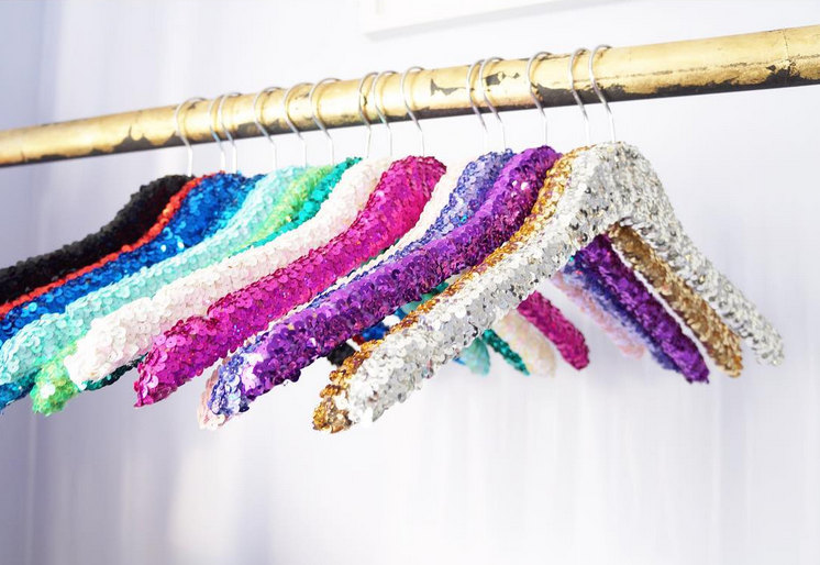 Colorful sequins hangers