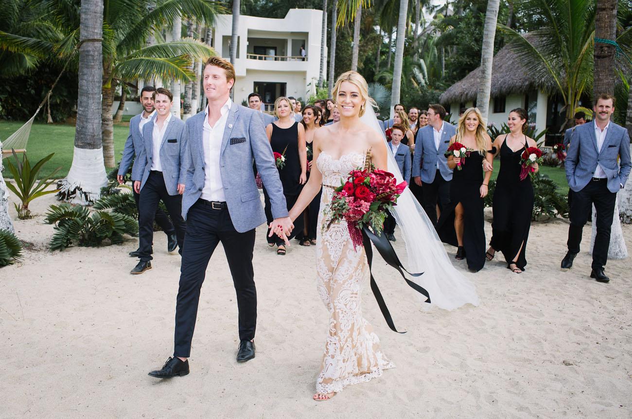 Couple heading to their wedding ceremony