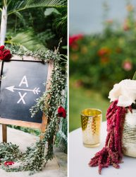 Wedding ceremony decor details