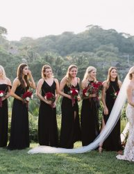 Bridesmaids at a wedding ceremony