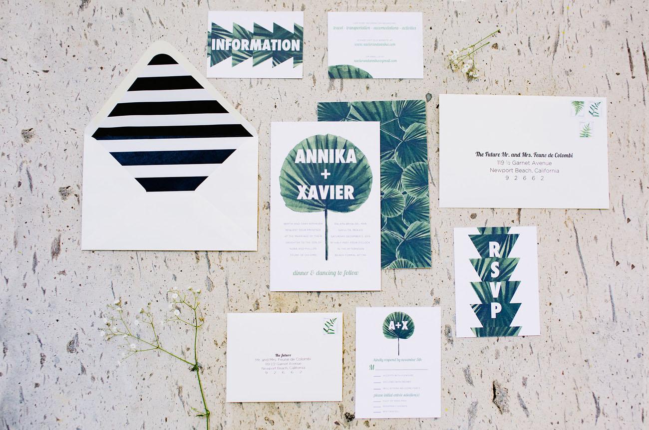 Tropical wedding stationary