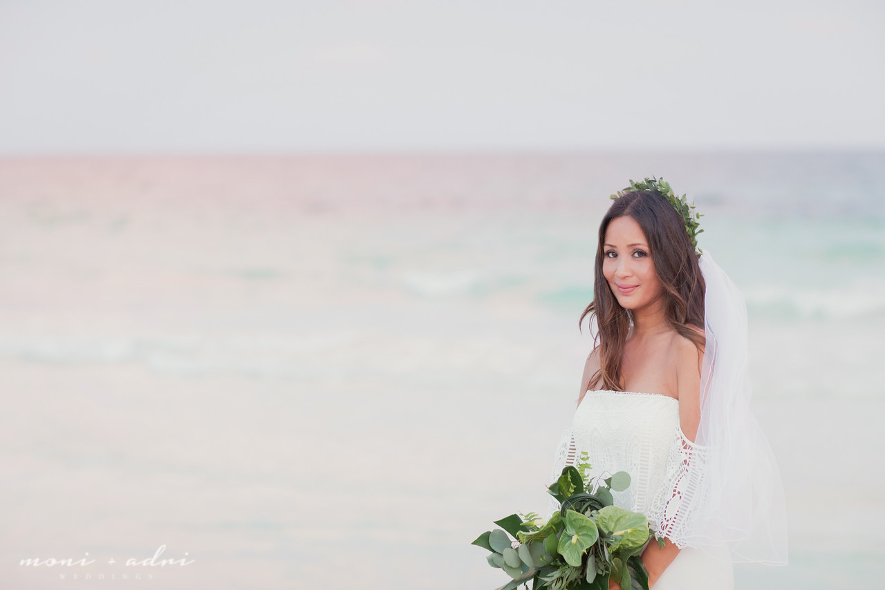 Bride and the sea