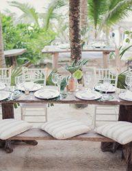 Simple beach wedding reception decor