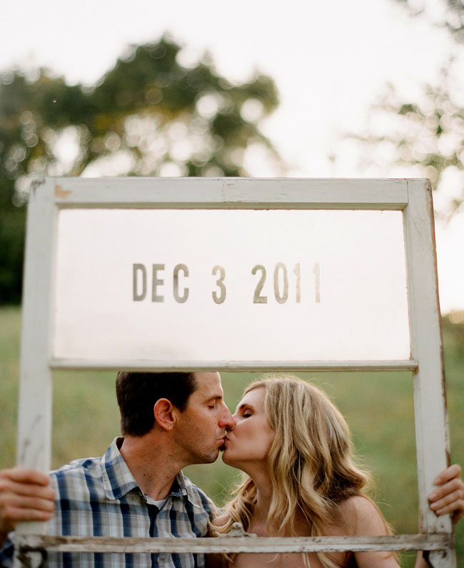 Save the date wooden frame