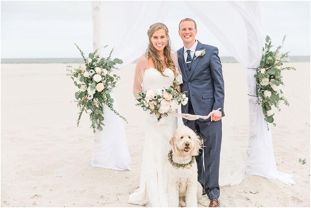 Wedding ceremony with a dog